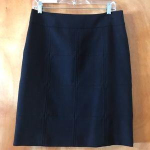 Tory Burch Navy Windowpane Skirt